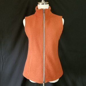 Natural Wool Zip Front Vest M - Made in BC